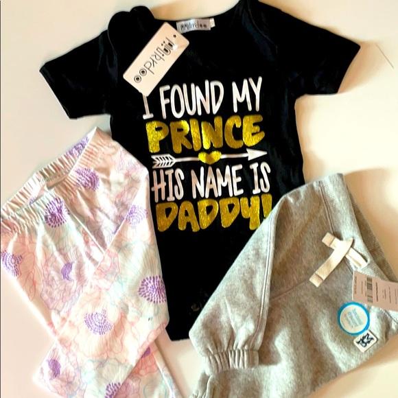 🐣3/$30 New Baby/Toddler girl bundle 3 pc Sz3m-2T.